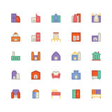 Building & Furniture Vector Icon 5. Take a trip back in time and decorate with this new Buildings and Furniture Pack You will love using the icon pack for your Stock Image
