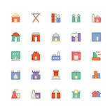 Building & Furniture Vector Icon 4. Take a trip back in time and decorate with this new Buildings and Furniture Pack You will love using the icon pack for your Royalty Free Stock Images
