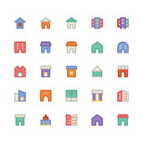Building & Furniture Vector Icon 10. Take a trip back in time and decorate with this new Buildings and Furniture Pack You will love using the icon pack for your Royalty Free Stock Photo