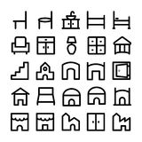 Building & Furniture Vector Icons 11 Royalty Free Stock Image