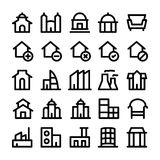 Building & Furniture Vector Icons 1 Stock Image