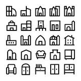 Building & Furniture Vector Icons 5 Royalty Free Stock Photos