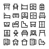 Building & Furniture Vector Icons 9 Royalty Free Stock Image