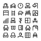 Building & Furniture Vector Icons 7 Royalty Free Stock Photography