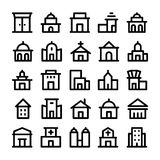 Building & Furniture Vector Icons 1 Royalty Free Stock Photography