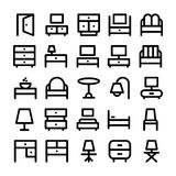 Building & Furniture Vector Icons 6 Royalty Free Stock Photography
