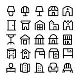 Building & Furniture Vector Icons 13 Stock Photo