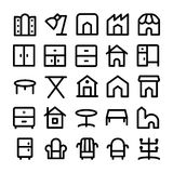 Building & Furniture Vector Icons 14 Stock Photo