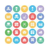 Building & Furniture Vector Icons 8 Stock Photography