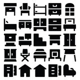 Building & Furniture Vector Icons 9 Royalty Free Stock Images