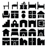 Building & Furniture Vector Icons 11 Royalty Free Stock Photo