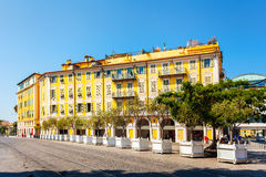 The building in Garibaldi square, Nice, the old town Royalty Free Stock Photo