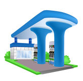 The building of the gas station. Stock Images