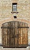 Building with gate. Stock Photo