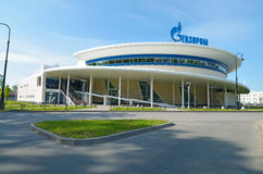 The building of Gazprom,which is the main sponsor. 11.06.2017.Russia.Saint-Petersburg.Krestovsky island.The building of Gazprom,which is the main sponsor stock image