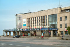 The building of Gdynia Aquarium on alley of Jana Pawla II Stock Images