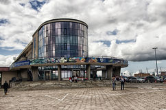 The building of Gdynia Aquarium. Poland Royalty Free Stock Images