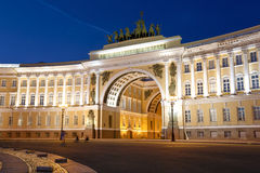 Building of the General Staff in night Stock Image