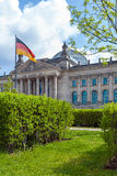 The building of the German Parliament the Reichstag and the flag Royalty Free Stock Photography