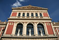 Building of Gesellschaft der Musikfreunde Society of Friends of the Music or Musikverein concert hall, Vienna, Austria Royalty Free Stock Images