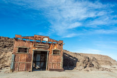 Building in Ghost Town of Humberstone royalty free stock photo