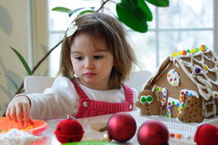 Building Gingerbread House Stock Images