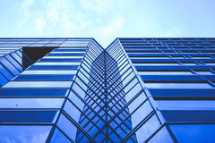 Building Glass. With blue sky Stock Images