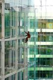 Building Glass Facade cleaning Stock Photo