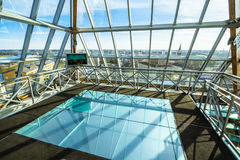 Building. Glass roof on the top of the building Royalty Free Stock Images