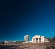 Building Of Gomel Regional Drama Theatre On The Lenin Square in Stock Images