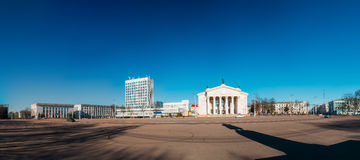 Building Of Gomel Regional Drama Theatre On The Lenin Square in Royalty Free Stock Photos