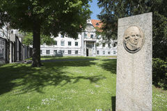 Building of Government of Swabia and the Park Fronhof in Augsburg Royalty Free Stock Photos