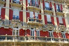 Building on the Gran Via in Granada, Andalusia, Spain Stock Image
