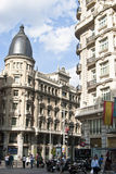 Building at the Gran Via.Madrid, Spain. Stock Photos