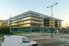 Building of the Grand Est administratoin in  Strasbourg, France Stock Photos