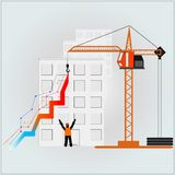 Building graph Royalty Free Stock Images