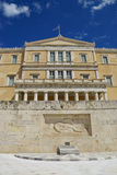 Building of Greek parliament in Athens,Greece. Royalty Free Stock Images