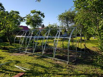 Building the greenhouse Royalty Free Stock Photo