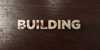 Building - grungy wooden headline on Maple  - 3D rendered royalty free stock image Stock Image