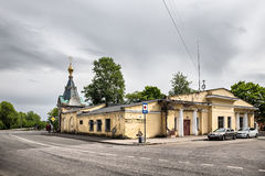 The building of the guardhouse. Kronstadt, Russia Royalty Free Stock Image