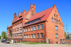 Building Gusev agro college built in the Neo-Gothic style Stock Image