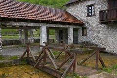 Building in Gusinje village, National park Prokletije Stock Photos