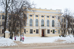 Building of Gymnasium named Kekin in Rostov Veliky, Russia. Wint Stock Photography