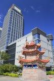 Building of haicang company and large incense burner Royalty Free Stock Image