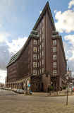 Building in Hamburg. Ship-styled building in Hamburg, Germeny stock photography
