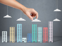 Building in a hand Stock Photos
