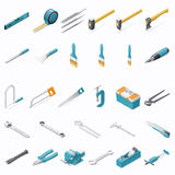 Building hand tools icon set Stock Photo