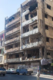 Building in Haret Hreik area destroyed by Israeli bombing in the city of Beirut in 2006 Stock Images