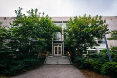 Building at Harvard University, in Cambridge, Massachusetts. Royalty Free Stock Image