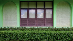 Building has a window and the tree decorate Royalty Free Stock Photo